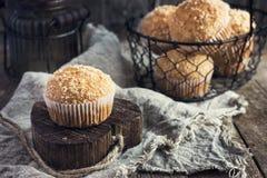 Muffin della noce di cocco Immagine Stock