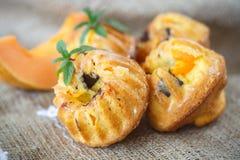 Muffin della zucca Immagini Stock Libere da Diritti