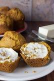 Muffin della zucca Fotografie Stock Libere da Diritti
