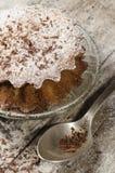 Muffin della zucca sul piattino di vetro Fotografie Stock Libere da Diritti