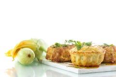 Muffin dello zucchini Fotografie Stock Libere da Diritti
