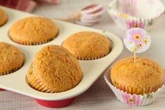 Muffin di estate con gli ingredienti sani e semplici fotografia stock