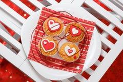 Muffin di San Valentino Immagine Stock