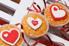 Muffin di San Valentino Immagine Stock Libera da Diritti