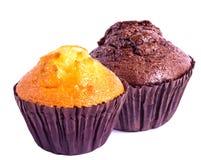 Muffin differente due Fotografia Stock Libera da Diritti