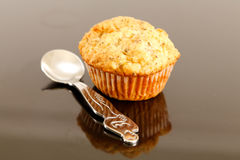Muffin displayed on mirror Royalty Free Stock Image