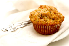 Muffin displayed on plate Royalty Free Stock Photo
