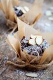 Muffin do chocolate foto de stock
