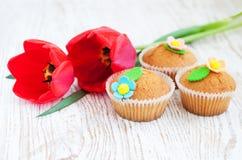Muffin dolci fotografia stock