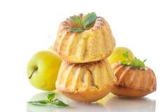 Muffin dolci della mela Fotografia Stock