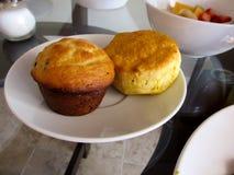 Muffin e biscotto Fotografia Stock Libera da Diritti