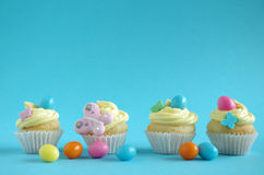 muffin easter Royaltyfria Bilder