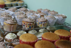 Muffin, efter du bakas arkivbild