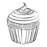 Muffin efterrätt, kaka för kaffedrink, Royaltyfria Foton