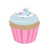 Muffin efterrätt, kaka för kaffedrink, Arkivbild