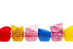 Muffin- eller muffinbakningen kuper Arkivbild