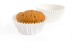 Muffin with empty muffin cups Royalty Free Stock Images