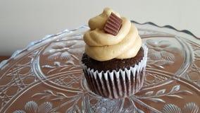 Muffin för chokladjordnötsmör Arkivbilder