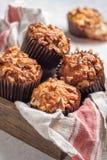 Muffin för mutter för bananbröd fotografering för bildbyråer