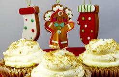 Muffin för pepparkakamän Fotografering för Bildbyråer