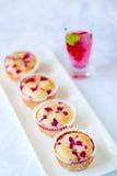 Muffin för röd vinbär fotografering för bildbyråer