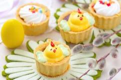 Muffin för vårhöna med påskägg Royaltyfri Foto
