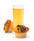 Muffin and  fruit juice Stock Photo