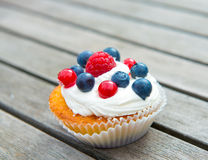 Muffin with fruits Royalty Free Stock Images