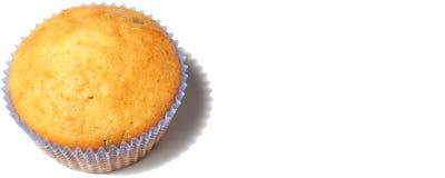 Muffin getrennt auf Weiß Lizenzfreies Stockfoto