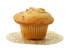 Muffin on gold paper Stock Image