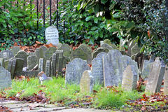 Muffin grave stone. Graveyard for aristocracy pets in old London stock image