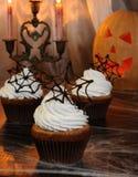 Muffin Halloween Stockbild