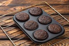Muffin i form av bakning Arkivfoto