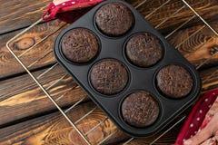 Muffin i form av bakning Arkivfoton