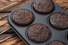 Muffin i form av bakning Royaltyfri Foto