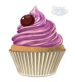 Muffin i gravyrstil Arkivfoton