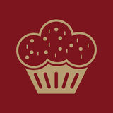 The muffin icon. Dessert and baked, cake, bakery symbol. Flat Stock Photography
