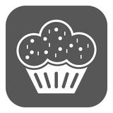 The muffin icon. Dessert and baked, cake, bakery symbol. Flat Royalty Free Stock Image