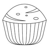 Muffin icon, outline style. Muffin icon. Outline illustration of muffin vector icon for web Royalty Free Stock Images