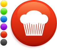 Muffin icon on round internet button Royalty Free Stock Photos