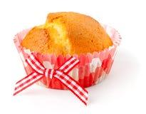 Muffin im Papiercup des rosa Plaids Lizenzfreie Stockbilder