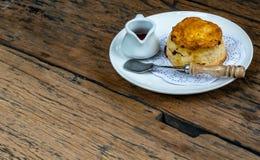 Muffin im weißen Teller lizenzfreies stockfoto