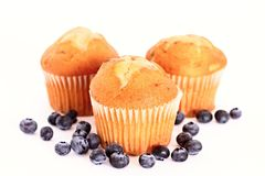 Muffin. Image of a homemade cranberry and almond muffin on a table royalty free stock photo