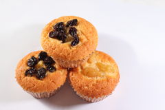 Muffin isolated from othes on white background. Royalty Free Stock Image
