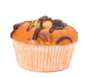 Muffin. Isolated on white background royalty free stock photography