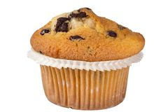 Muffin isolated on a white background Royalty Free Stock Image