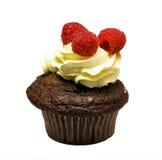 muffin isolerat rapberry Royaltyfria Foton