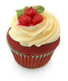 muffin isoloated röd sammetwhite Royaltyfri Fotografi