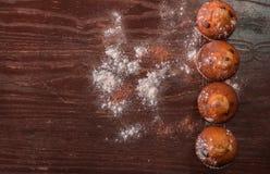 Muffin ist ein einzeln-gro?, gebackenes Produkt stockfotografie