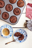 Muffin & kaffe Royaltyfria Bilder